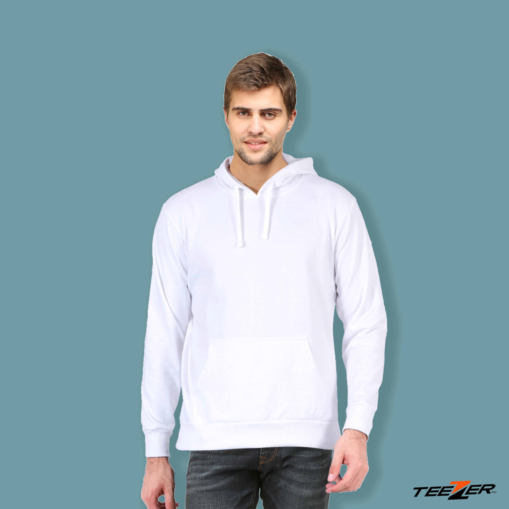 Just plain:Hoodies-white
