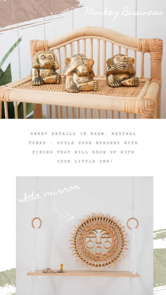Little Brass Monkey's and Ida Rattan Mirror