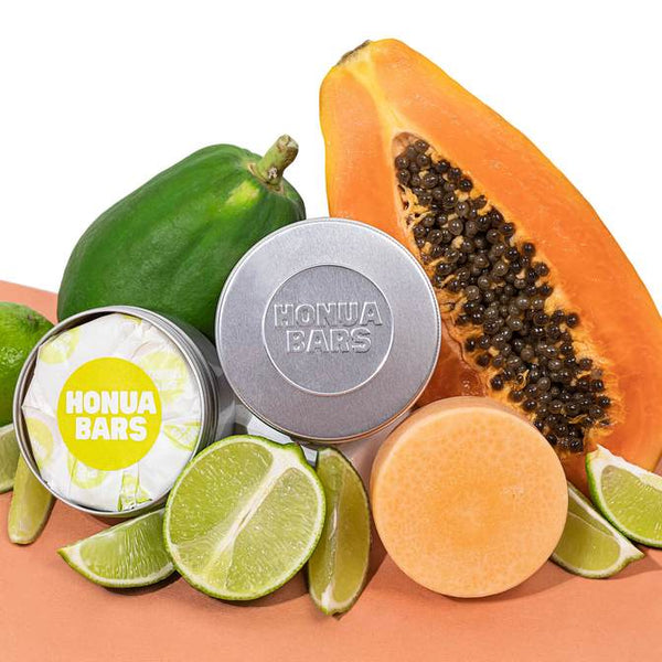 Bali Papaya Lime Shampoo and Conditioner bar - Honua Bars
