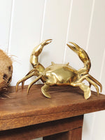 Brass Crab with gold finish