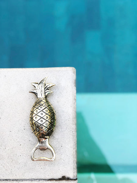 Brass Pineapple Bottle Opener in Gold Finish