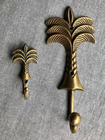 Brass Palm Tree Hooks Small & Large