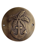 Anchor & Palm Brass Plaque