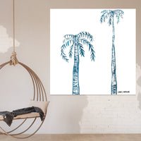 'Indigo Ink Palms' Print on Canvas - By Libby Watkins