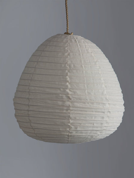 Pear Lantern Pendant Light in Ivory Linen