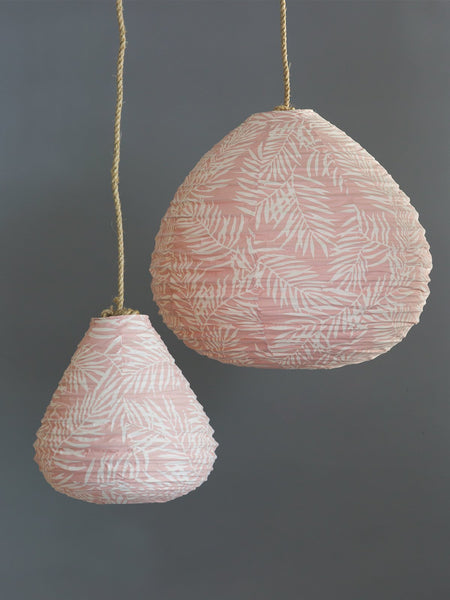 Teardrop Lantern in Pink Palm - The Jungle Trader
