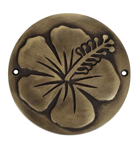Brass Hibiscus Plaque | by Pineapple Traders