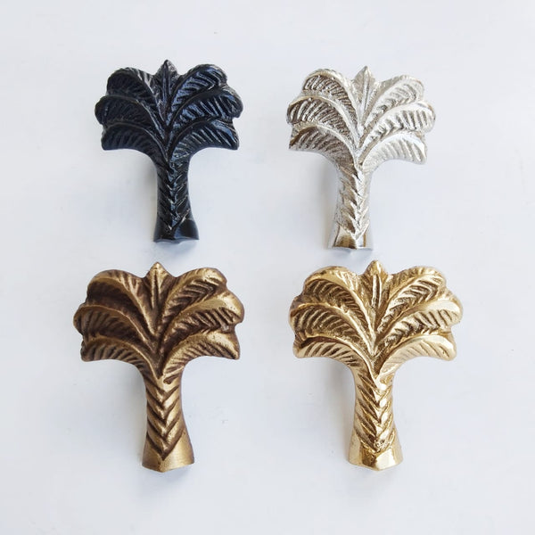 Brass Palm Tree Knobs | by Pineapple Traders