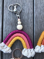Macramé Rainbow Keychain | by Olive Loves Peach