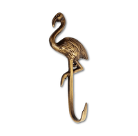 Brass Flamingo Hook by Pineapple Traders