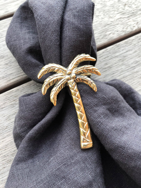 Brass Palm Tree Napkin Ring