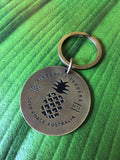 Brass Pineapple Traders keyring