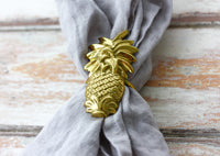 Brass Pineapple Napkin Ring