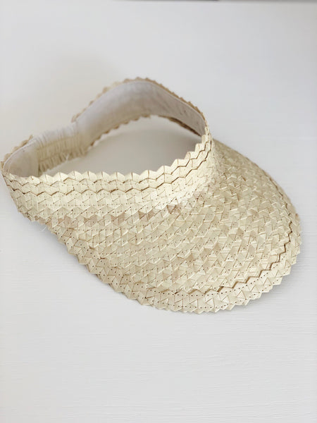 Woven Palm Leaf Visor - Natural