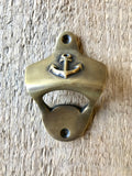 Anchor Bottle Opener Wall Mounted Brass