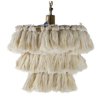 Justina Blakeney Fela Tassel Wall Chandelier - White