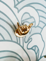 Brass Shaka Hook by Pineapple Traders