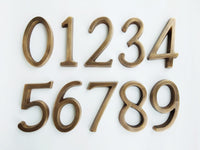 -NEW- Brass House Numbers