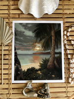 Goodnight Palm Trees - print By Lara Ford