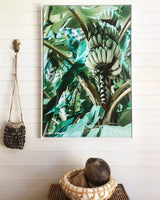 Banana Palm Photographic Print on Canvas - By Libby Watkins