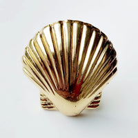 Brass Scallop Shell Knob by Pineapple Traders