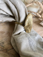 Brass Shell Napkin Rings