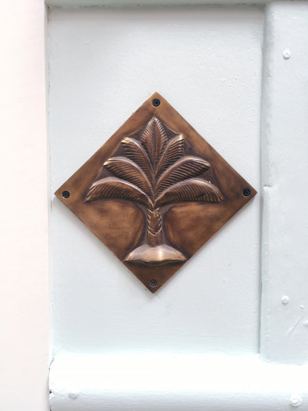 Brass Palm Plaque