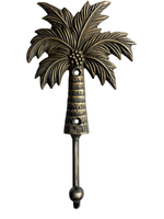 Coconut Palm Hook (brass)