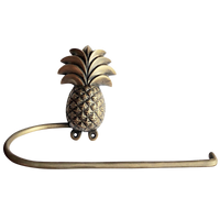 brass pineapple paper towel holder