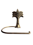 Toilet roll holder - palm tree (brass)