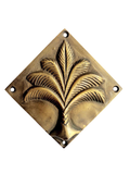 Brass Palm Diamond Plaque