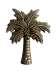 coconut palm tree brass plaque