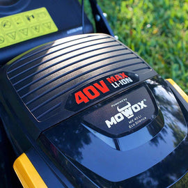 17 in. 40-Volt Battery Power RWD 3-in-1 Self Propelled Walk Behind Mower with High Wheel 4 Amp Battery Charger