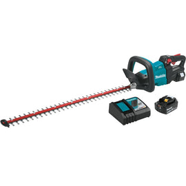 18-Volt LXT Lithium-Ion Brushless Cordless 30 in. Hedge Trimmer Kit (5.0 Ah) with Bonus 18V LXT Cordless Floor Blower
