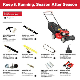 21 in. 140 cc 550e Series Briggs and Stratton Gas Walk Behind Self Propelled Lawn Mower w/ 2-in-1 TriAction Cutting System