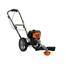 43 cc Gas Wheeled String Trimmer Plus Edger Attachment Combo Kit (2-Tool)