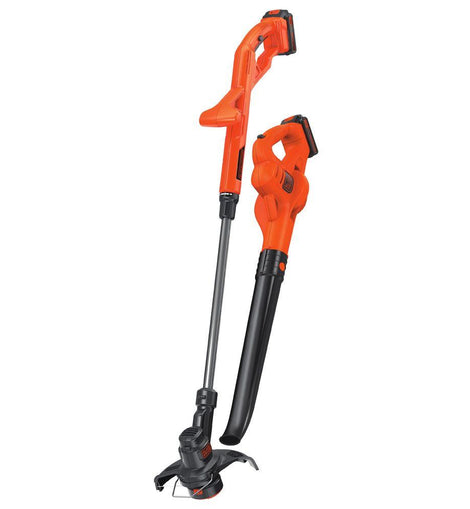BLACK+DECKER 20-Volt MAX Lithium-Ion Cordless String Trimmer/Sweeper Combo Kit (2-Tool) with (2) 1.5Ah Batteries and Charger Included