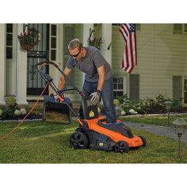 BLACK+DECKER 20 in. 13-Amp Corded Electric Walk Behind Push Lawn Mower