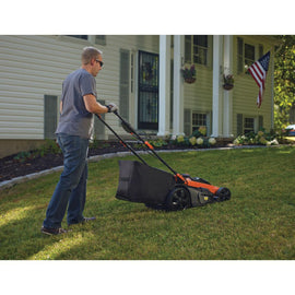 BLACK+DECKER 20 in. 40-Volt MAX Lithium-Ion Cordless Walk Behind Push Lawn Mower w/ (2) 2.5 Ah Batteries/Charger
