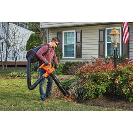 BLACK+DECKER 250 MPH 400 CFM 12 Amp Corded Electric Backpack Leaf Blower/Vac/Mulcher