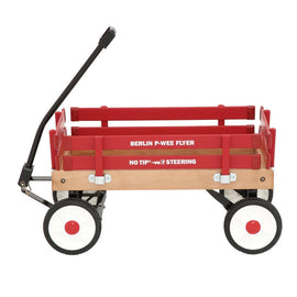 Berlin Flyer 0.99 cu. ft. All Purpose Wooden Pee-Wee Wagon