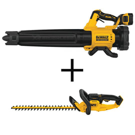 DEWALT 125 MPH 450 CFM 20-Volt MAX Li-Ion Cordless Brushless Blower with Bonus 22 in. 20-V Cordless Hedge Trimmer (Tool-Only)