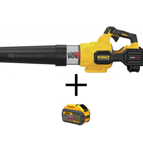 DEWALT 125 MPH 600 CFM Flexvolt 60-Volt MAX Lithium-Ion Cordless Axial Blower (Tool Only) with BONUS Flexvolt Li-Ion Battery
