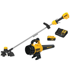 DEWALT 20-Volt MAX Cordless Lithium-Ion String Trimmer/Blower Combo Kit (2-Tool) with 4 Ah Battery Pack and Charger