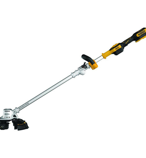 DEWALT 20-Volt MAX Lithium-Ion Brushless Cordless String Trimmer with One 5 Ah Battery and Charger