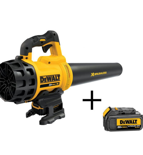 DEWALT 90 MPH 400 CFM 20-Volt MAX Lithium-Ion Cordless Leaf Blower with (1) 5.0Ah Battery, (1) 3.0Ah Battery and Charger