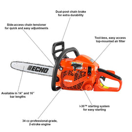 ECHO 16 in. 34 cc Gas 2-Stroke Cycle Chainsaw