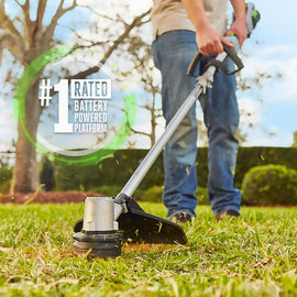 EGO 15 in. 56V Lithium-Ion Cordless Electric String Trimmer with Foldable Shaft, 2.5 Ah Battery and Charger Included