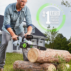 EGO 16 in. 56-Volt Lithium-Ion Cordless Electric Chainsaw, 5.0 Ah Battery and Charger Included