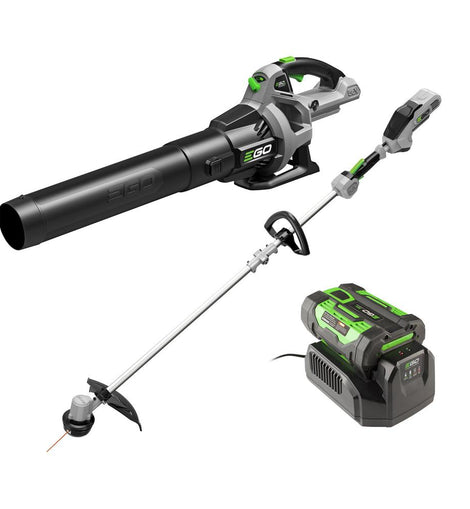 EGO 56V Lithium-Ion Cordless Electric 15 in. String Trimmer and 530 CFM Blower Combo Kit, 2.5 Ah Battery and Charger Included